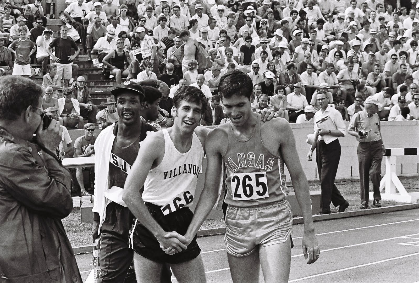 Photo of Olympics – 1984 – L A Games – Kathleen Sullivan Interviews Marty Liquori + Recalls 1968 Men Marathon