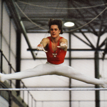 Photo of Olympics – 1984 – L A Games – Gymnastics – Mens Indiv Horizontal Bar Finals – SUI Daniel Wuderlin