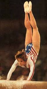 Photo of Olympics – 1984 – L A Games – Gymnastics Womens All Around Vault – USA Mary Lou Retton   Perfect 10
