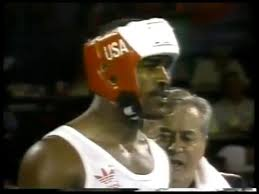 Photo of Olympics – 1984 – L A Games – Boxing – Howard Cosell Interview Evander Holyfield On Disqualification