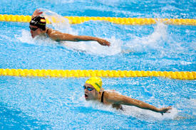 Photo of Olympics – 1984 – L A Games – Swimming – Womens 200m Butterfly Heats – AUS Phillips + USA Hogshead