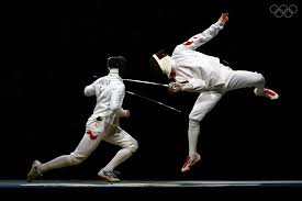 Photo of Olympics – 1984 – L A Games – Fencing Men Team Epee Final – FRG Alex Fischer Vs FRA Phillippe Boisse