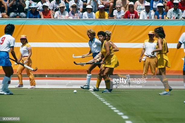Photo of Olympics – 1984 – L A Games – Field Hockey – Womens 3rd Rnd – USA Vs AUS – 1st Half With Al Trautwig