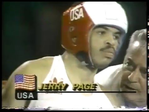 Photo of Olympics – 1984 – L A Games – Boxing – Light Welterwt Bout – USA Jerry Page Vs YUG Mirko Puzovic