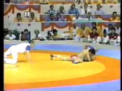 Photo of Olympics – 1984 – L A Games – Greco Roman Wrestling – FRG Pasquale Passarelli Vs JPN Masaki Eto