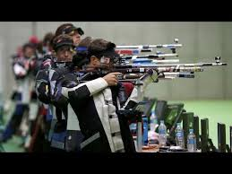 Photo of Olympics – 1984 – L A Games – Shooting Air Rifle – FRA Heberle 1st + AUT Kronthaler 2nd + Dagger 3rd