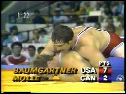 Photo of Olympics – 1984 – L A Games – Freestyle Wrestling 100kg Gold Match – USA Baumgartner Vs CAN Molle