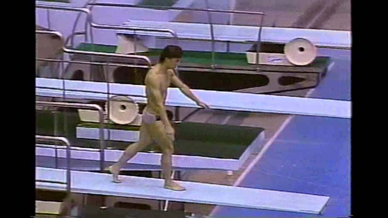 Photo of Olympics – 1984 – L A Game – Diving – Men's Springboard Preliminaries – CHN Tan Liangde –   Dive 4