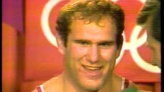 Photo of Olympics – 1984 – L A Games – Freestyle Wrestling – Interview With Gold Medalist USA Ed Banach + Coach Dan Gable