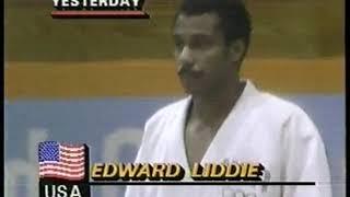 Photo of Olympics – 1984 – L A Games – Judo – Xtra Lightwt Brnze Match USA Edward Liddie Vs FRA Guy Delvingt