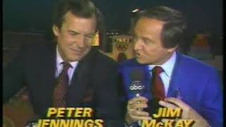 Photo of Olympics – 1984 – L A Games – ABCs Hosts Jim McKay + Peter Jennings Talk All Things Closing Ceremony