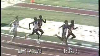 Photo of Olympics – 1984 – L A Games – Track – Mens 800m Dash Semifinals – BRA Joaquim Cruz + USA Earl Jones