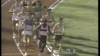 Photo of Olympics – 1984 – L A Games – Track – Mens 1500m Semifinals – GBR Steve Cram + USA Jim Spivey + GBR Steve Ovett