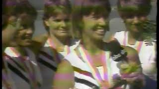 Photo of Olympics – 1984 – L A Games – Rowing – Curt Gowdy Interviews Womens Quad Silver Medal  USA Team