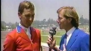 Photo of Olympics – 1984 – L A Games – Tad Coffin Interviews Equestrian USA Team Show Jump Conrad Homefeld