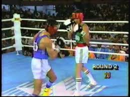Photo of Olympics – 1984 – L A Games – Boxing – Bantamweight Bout – NIG Joe Orewu Vs MEX Hector Lopez