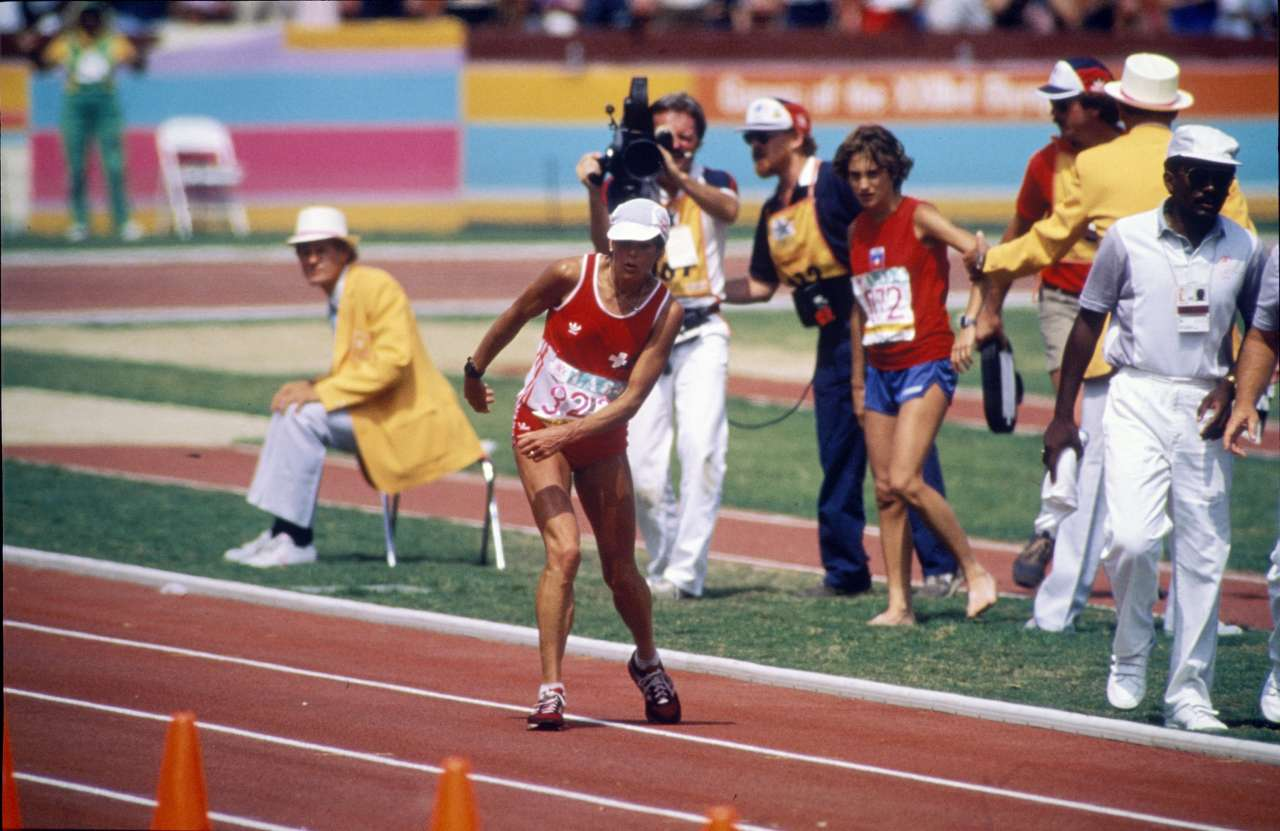 Photo of Olympics – 1984 – L A Games – Marathon – The Courageous Finish Of SUI Gabrielle Andersen Scheiss