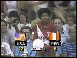 Photo of Olympics – 1984 – L A Games – Volleyball – Women Semifinal – USA Vs Peru – Game 1 – With Bob Beattie