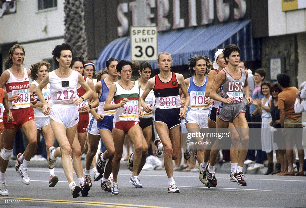 Photo of Olympics – 1984 – L A Games – Track – Womens Marathon – Middle Of Race From Mile 12 To Mile 19