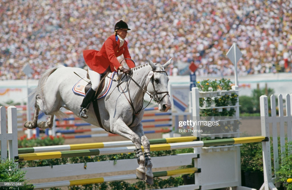 Photo of Olympics – 1984 – L A Games – Equestrian Team 3 Day Eventing Show Jump   USA Karen Stives On Ben Arthur