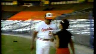 Photo of MLB – 1980 – Special – Boys In The Field – Hostess Audrey Kates Interviews Orioles Mgr Frank Robinson