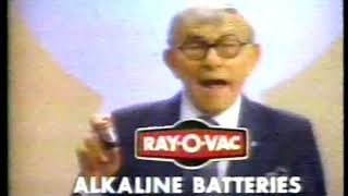 Photo of TV Ads – 1983 – OH GOD Comedian George Burns For Ray O Vac Batteries