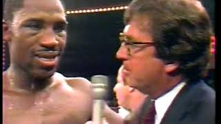 Photo of Boxing – 1983 – Tim Ryan PostFight Interview With Winner Marvis Frazer After Defeating Joe Bugner