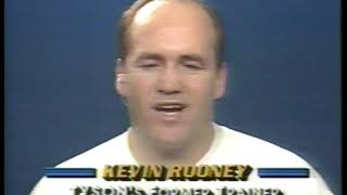 Photo of Boxing – 1989 – Larry Merchant Interviews Prior Mike Tyson Trainer Kevin Rooney After Iron Mike Win