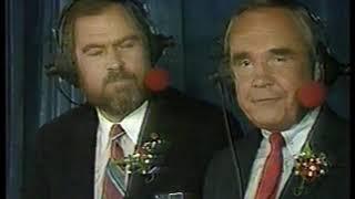 Photo of NCAAF – 1986 – Rose Bowl – Iowa Vs UCLA – PreGame Show With Dick Enberg + Merlin Olsen