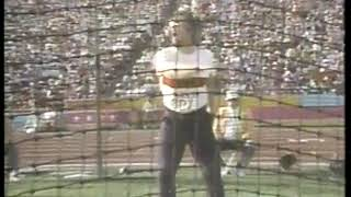 Photo of Olympics – 1984 – L A Games – Track & Field – Mens Discus 4th Throw – FRG Rolf Danneberg