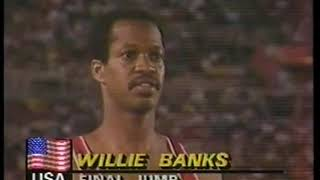 Photo of Olympics – 1984 – L A Games – Track & Field – Mens Triple Jump – USA Willie Banks – 6th Jump