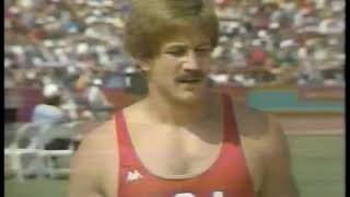 Photo of Olympics – 1984 – L A Games – Track & Field – Mens Javelin Throw – USA Duncan Atwood – 3rd  Throw