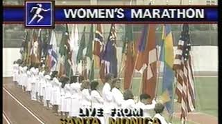 Photo of Olympics – 1984 – L A Games – Track – Al Michaels Provides Overview Of Womens Marathon Course Around L A