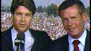 Photo of Auto Racing – 1987 – Indy 500 – Jim Lampley + Sam Posey + Bobby Unser Final Thoughts On The Race