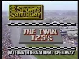 Photo of Auto Racing – 1987 – Twin 125 Qualifiers At Daytona Speedway – With Ken Squires + Chris Economaki