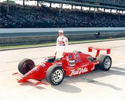 Photo of Auto Racing – 1987 – Indy 500 – Jack Arute In Pits Of Roberto Guerrero After Car Lost Its Nose Cone