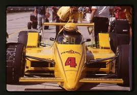 Photo of Auto Racing – 1986 – Indy 500 – Al Trautwig PostRace Interview With 3rd Place Finisher Rick Mears
