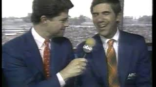 Photo of Auto Racing – 1986 – Indy 500 – Jim Lampley + Sam Posey Provide Final PreRace Analysis Before Start