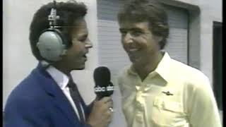 Photo of Auto Racing – 1986 – Indy 500 – Jack Arute Interview With Pole Sitter Rick Mears Of Penske Racing