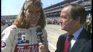 Photo of Auto Racing – 1987 – Indy 500 – Jim McKay Interview Katie Guerrero – Wife Of Driver Roberto Guerrero