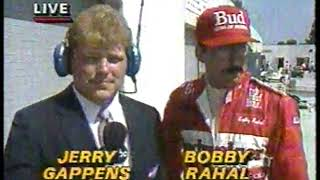 Photo of Auto Racing – 1987 – Indy 500 – Jerry Gappens PreRace Interview With Last Year Winner Bobby Rahal