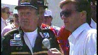 Photo of Auto Racing – 1987 – Indy 500 – A J Foyt Makes 30th Ceremonial Walk From Gasoline Alley To His Car