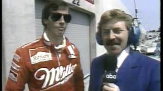 Photo of Auto Racing – 1986 – Indy 500 – ABCs Larry Nuber PreRace Interview With Driver Danny Sullivan