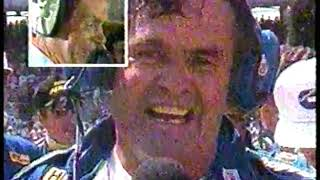 Photo of Auto Racing – 1987 – Indy 500 – Al Trautwig Interviews Al Unser Sr In The Winners Circle After Race
