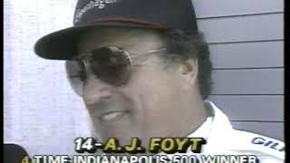 Photo of Auto Racing – 1986 – Indy 500 – PreRace With Danny Sullivan + Mario Andretti + A J Foyt + Al Unser