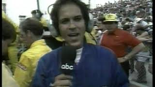 Photo of Auto Racing – 1987 – Indy 500 – Jim Lampley + Sam Posey Provide Commentary On The Middle Of Race
