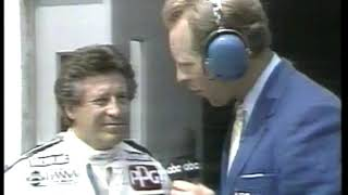 Photo of Auto Racing – 1986 – Indy 500 – ABCs Al Trautwig PreRace Interview With Driver Mario Andretti