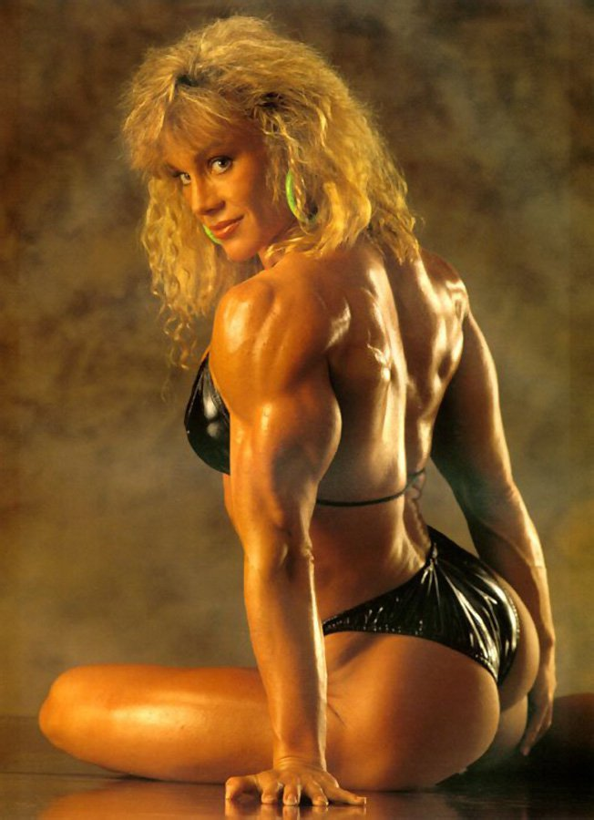 Photo of Body Building – 1985 – Ms Olympia Final Six – Dennis + Everson + Roberts + Plakinger + Furr + Dunlap