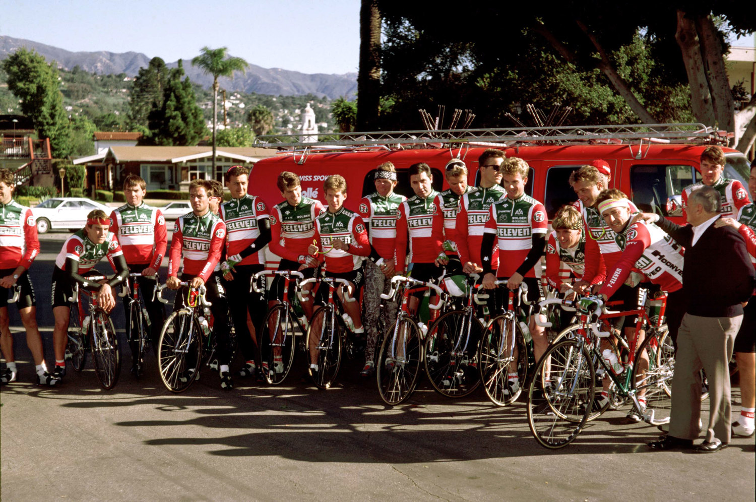 Photo of Cycling – 1986 – Tour De France – CBSs John Tesh Profiles Team 7 Eleven – 1st US Team Ever In Tour