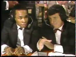 Photo of Boxing – 1982 – Barry Tompkins + Sugar Ray Leonard + Larry Merchant Final Wrapup  Arguello Vs Pryor